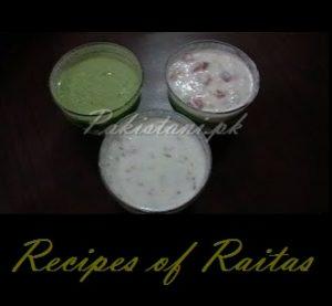 Raitas- Recipes