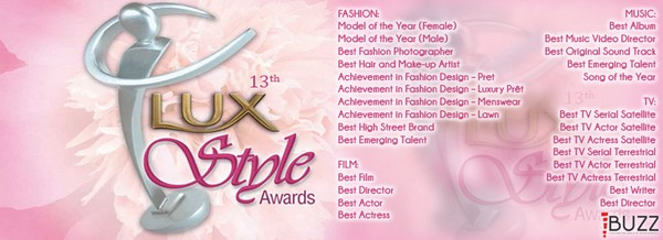 13th LUX Style Awards 2014 Nominations 1