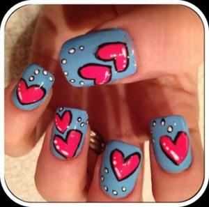<b>Beautiful Heart Nail Art Designs For Girls 2014</b>