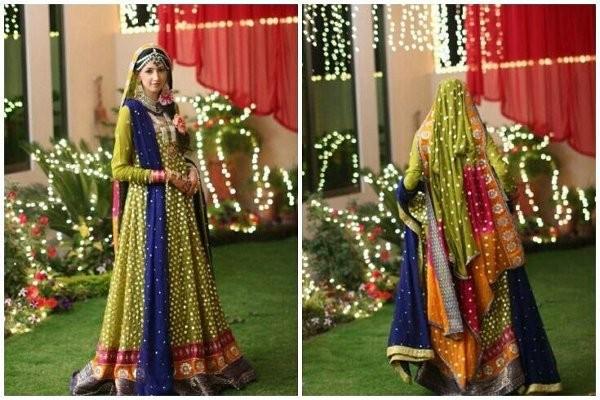 Trends Of Mehndi Dresses For Women 2014 6