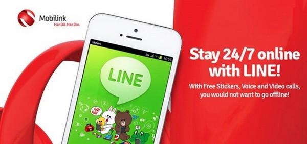 Mobilink Offers Free Line Messenger Service 1