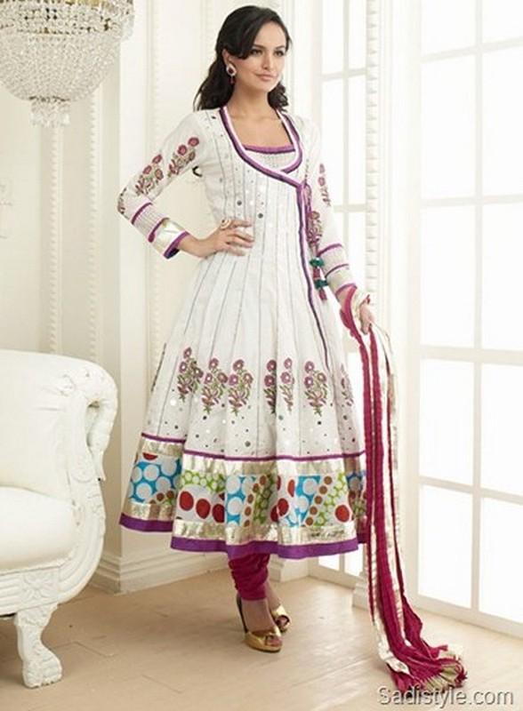 Trends Of Angrakha Anarkali Frocks 2014 For Wedding 5