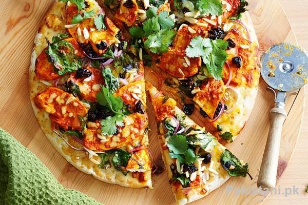 Tandoori Chicken Pizza Recipe 1