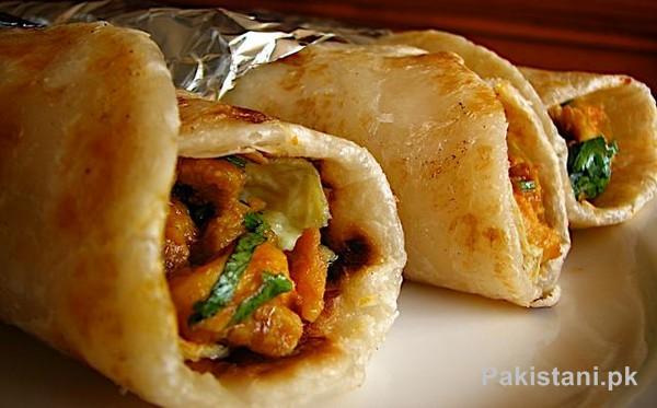 Cooking Recipe Of Chicken Paratha Roll by Zubaida Tariq 1