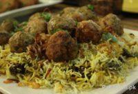 Cooking Recipe Of Hara Masala Kofta Biryani by Zubaida Tariq