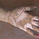classical indian henna design