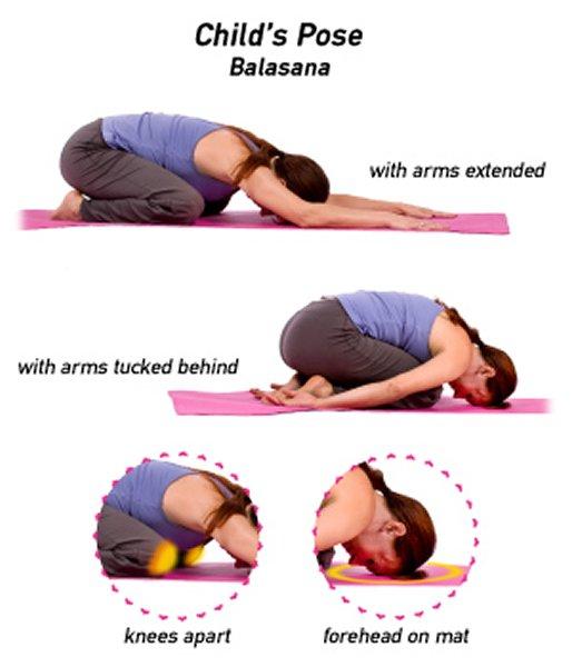 10 Yoga Poses For Diabetes Patients-Child's Pose