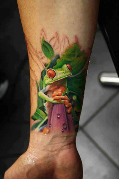 10 Popular Wrist Tattoos For Men - Colorful Wrist Tattoo