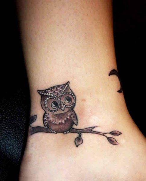 10 Popular Wrist Tattoos For Men - Owl Wrist Tattoo