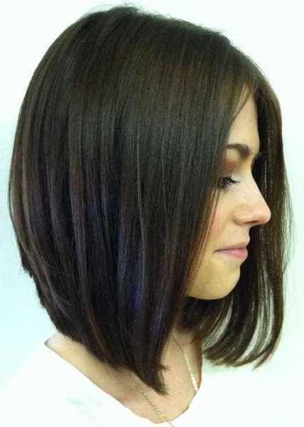 25 Simple Long Bob Hairstyles Which You Can Do Yourself-Stunning Inverted long Bob