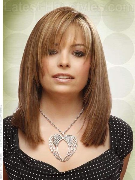 25 Simple Long Bob Hairstyles Which You Can Do Yourself-The Fringe Long Bob Hairstyle