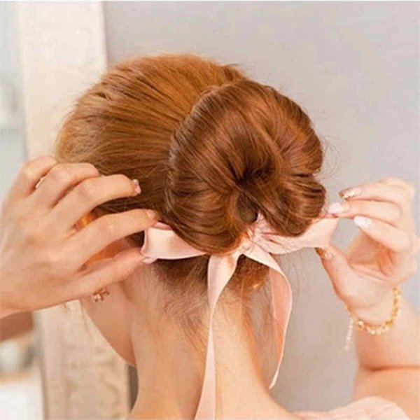 50 Simple Curly Hairstyles You Can Do In 10-Minutes-Trendy 3 Buns in the Oven