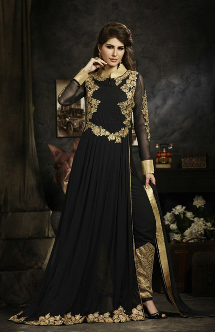 20 Indian Wedding Dresses You Can Try This Season - Black Suit