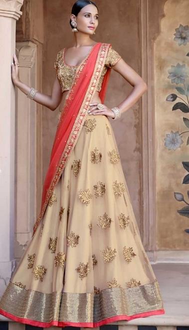 20 Indian Wedding Dresses You Can Try This Season - Fawn Lehanga Choli