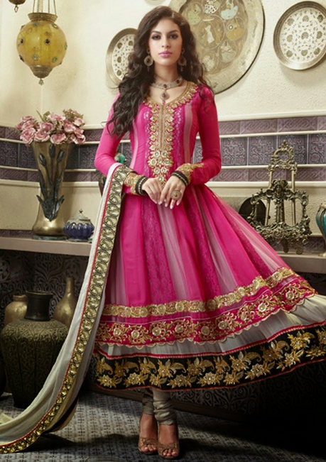 20 Indian Wedding Dresses You Can Try This Season - Pink Anarkali Frock