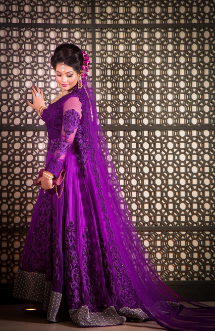 20 Indian Wedding Dresses You Can Try This Season - Purple Dress