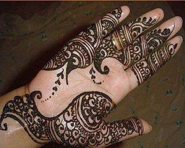 20 Simple Mehndi Designs For Hands-Arabic Mehndi Bridal Design