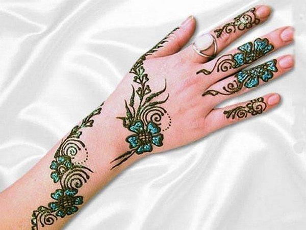 20 Simple Mehndi Designs For Hands-Motifs Mehndi Design For Back Hands