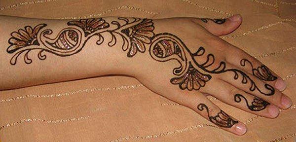 20 Simple Mehndi Designs For Hands-Red Mehndi Simple Mehndi Design
