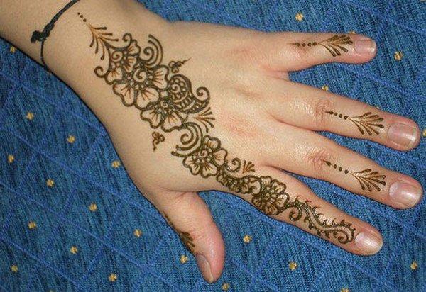 20 Simple Mehndi Designs For Hands-Simple Pattern Mehndi Design