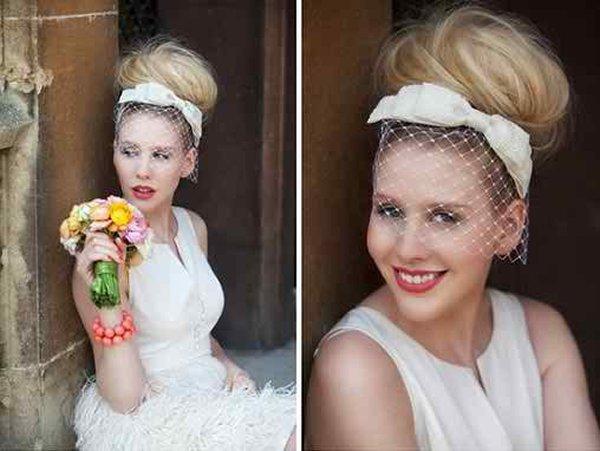 12 Summer Bridal HairStyles For Women-High Bun Summer Wedding Hairstyle