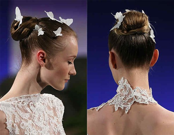 12 Summer Bridal HairStyles For Women-Stunning Butterfly Summer Wedding Hairstyle