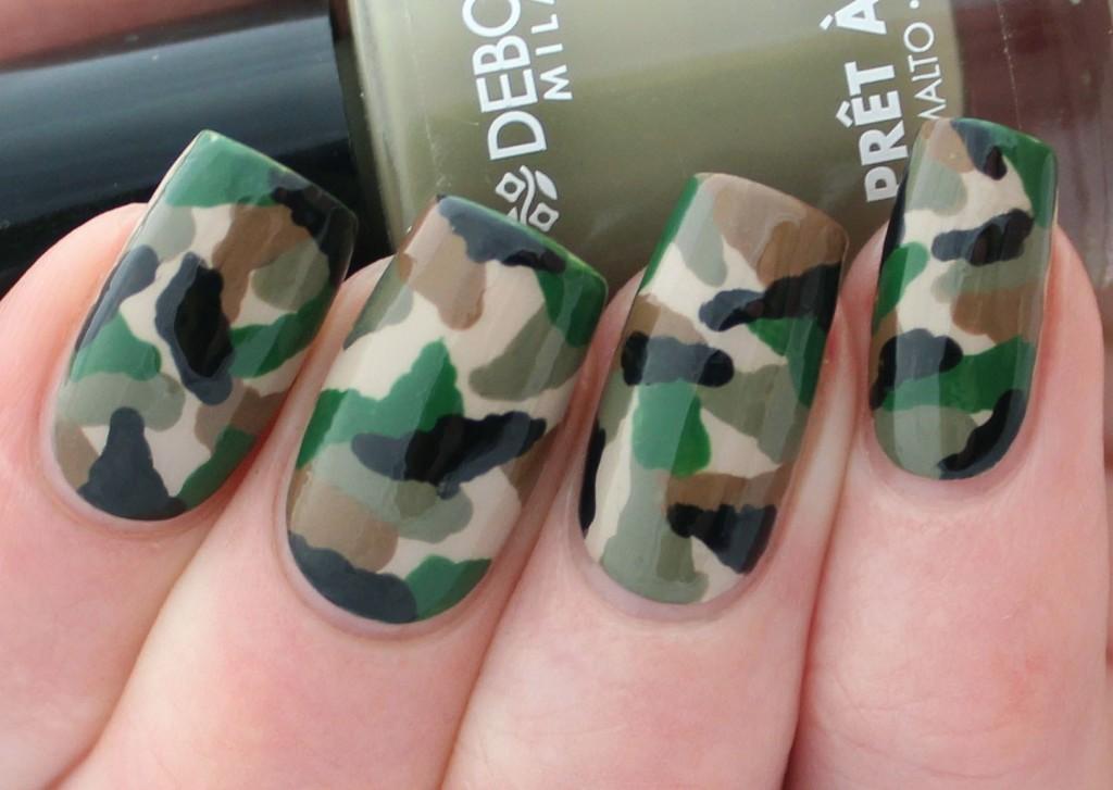 Top 12 Simple Nail Designs For Short Nails - Army Nail Art Design