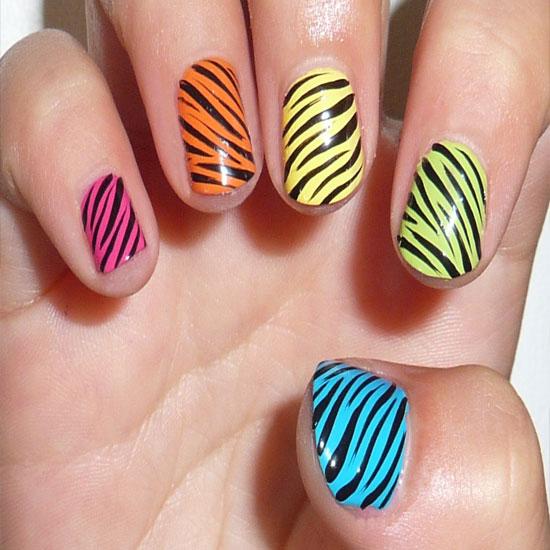Top 12 Simple Nail Designs For Short Nails - Colorful Nail Art Design