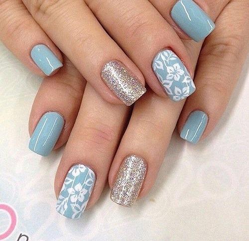 Top 12 Simple Nail Designs For Short Nails - Floral Nail Art Design