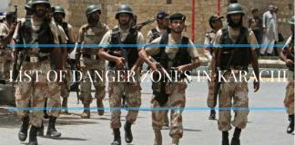 List Of Danger Zone In Karachi