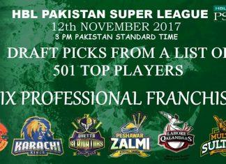 PSL 2018 Draft